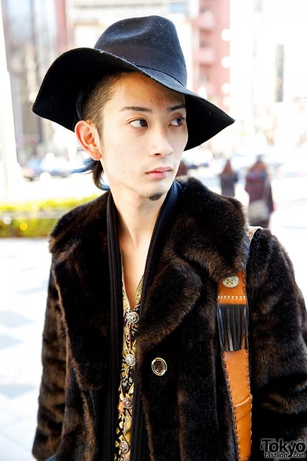 Hat & Vintage Fur Coat