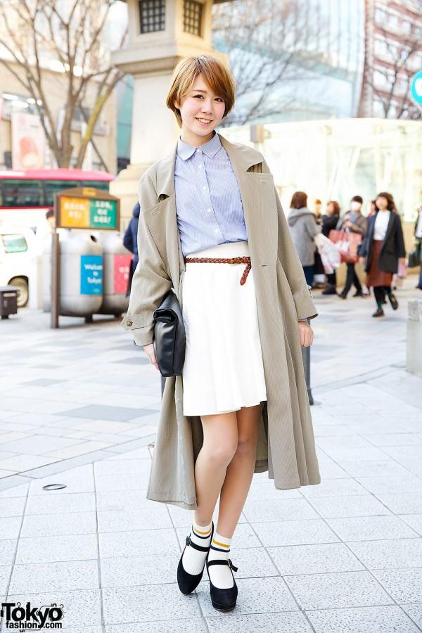 Harajuku Model in Trench Coat w/ titty&Co., Goocy Clutch & Heather