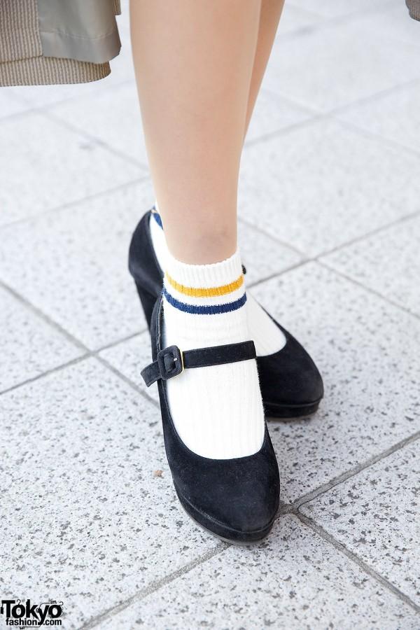 Heather Maryjanes & Tube Socks
