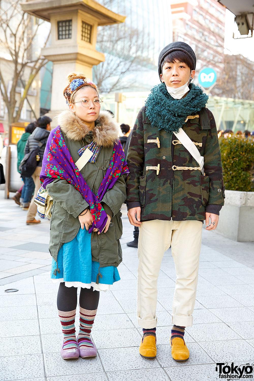 Khaki Jackets & Striped Socks