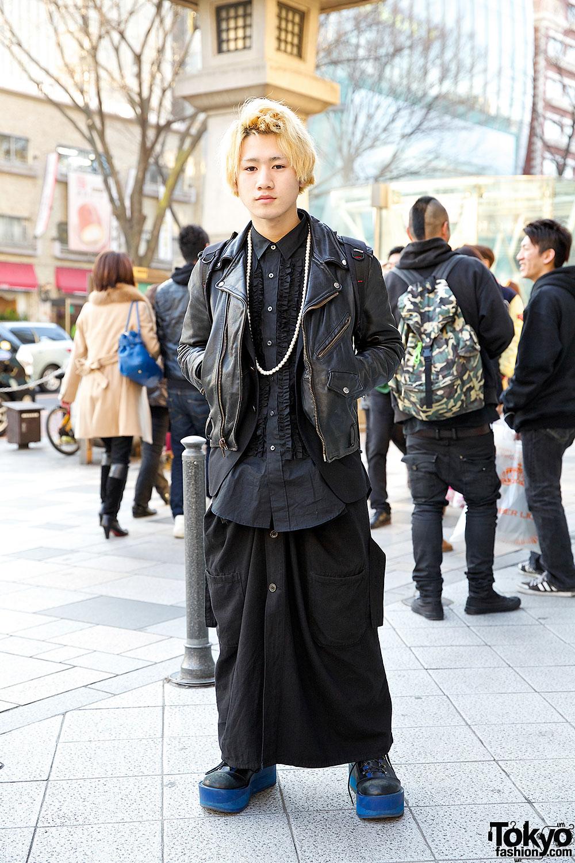 All Black Menswear in Harajuku