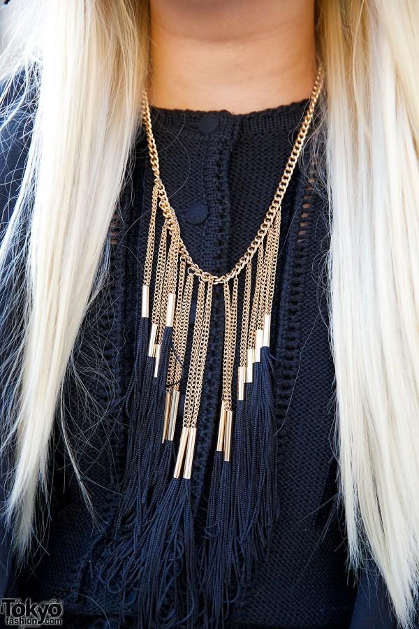 Chain & Tassel Necklace