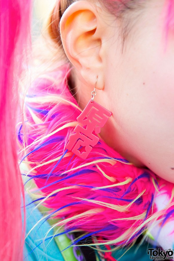 Pink Earrings in Harajuku
