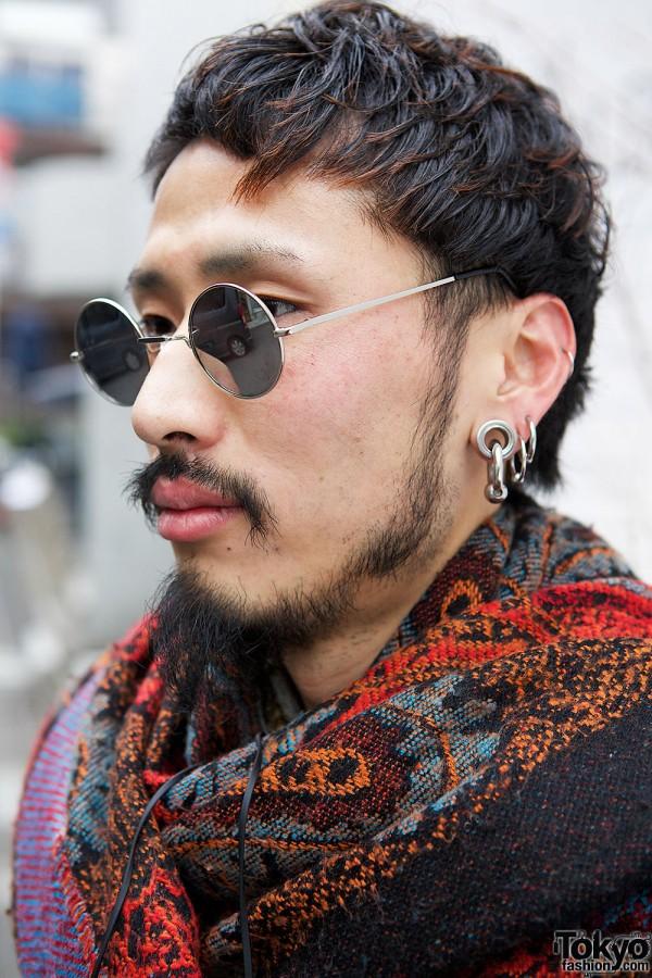 Round Sunglasses & Earrings