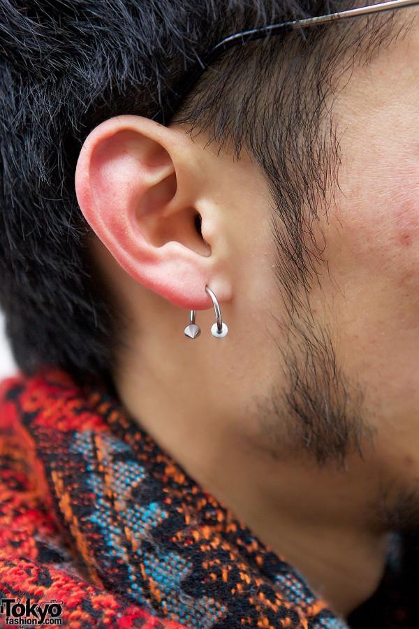 Ear Piercing in Harajuku