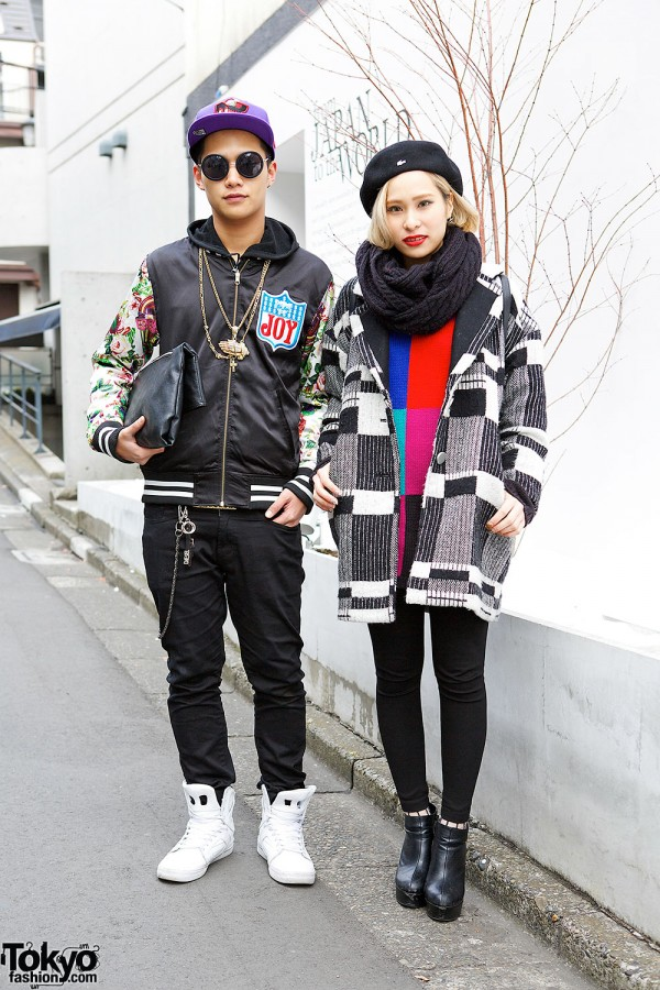 Colorblock Sweater & Ankle Boots vs. Joyrich Jacket & Supra Sneakers in Harajuku