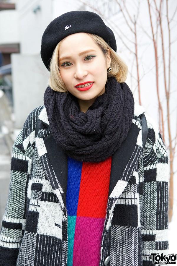 Jeanasis Coat & Colorblock Sweater