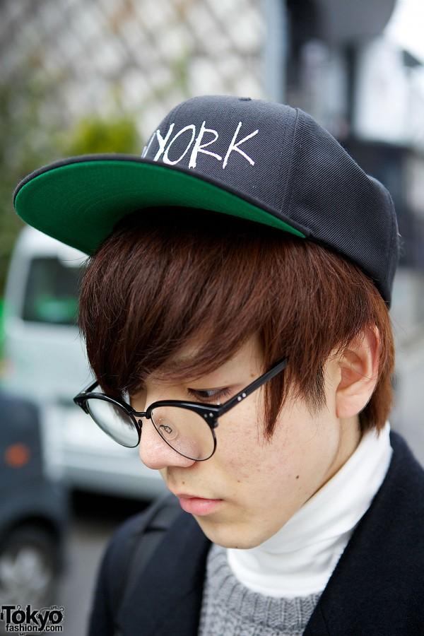 New York Cap & Glasses