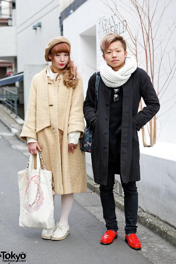The Virgin Mary Coat & lilLilly vs Kinji Jacket & Scissor Earrings in Harajuku