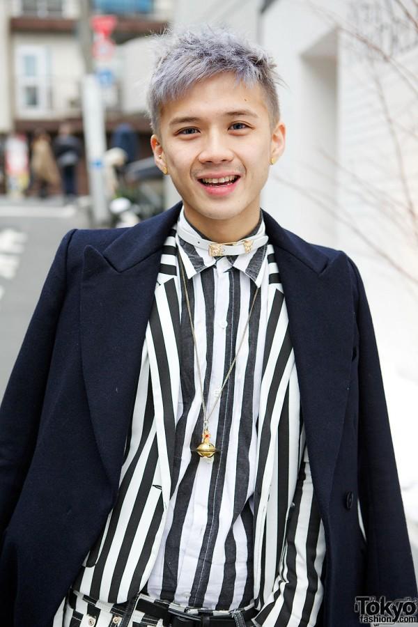 Uniqlo Jacket & H&M Striped Shirt