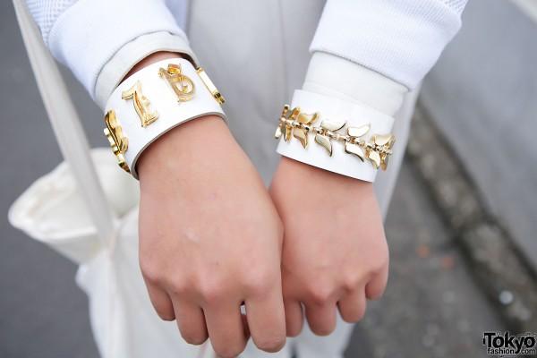 White & Gold Cuffs