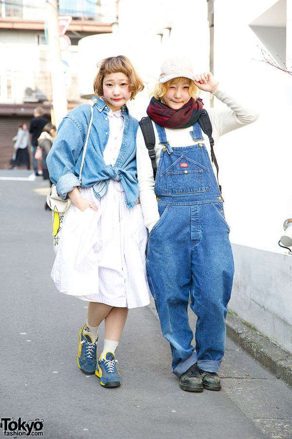 Harajuku Twins Nari and Naru in Denim