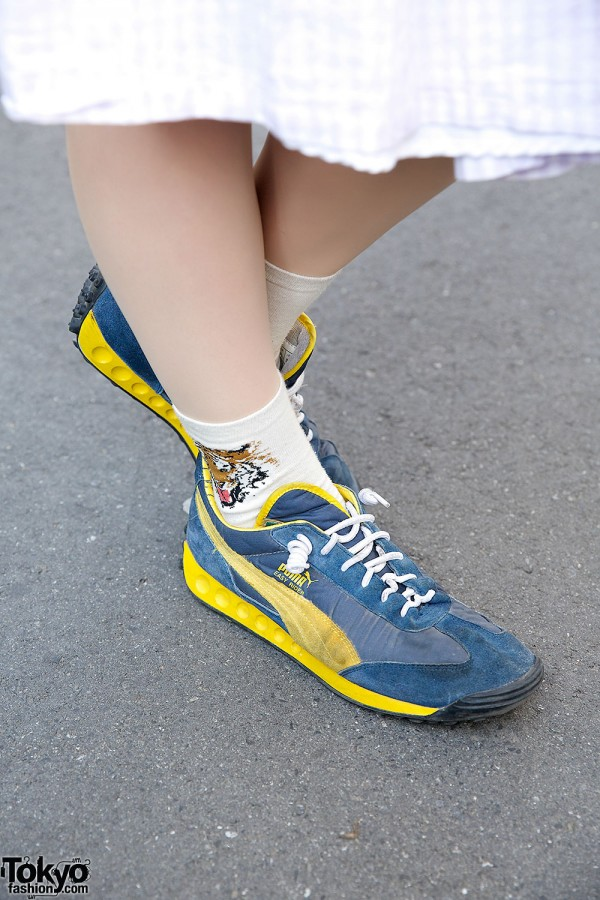 Yellow & Blue Puma Skeakers