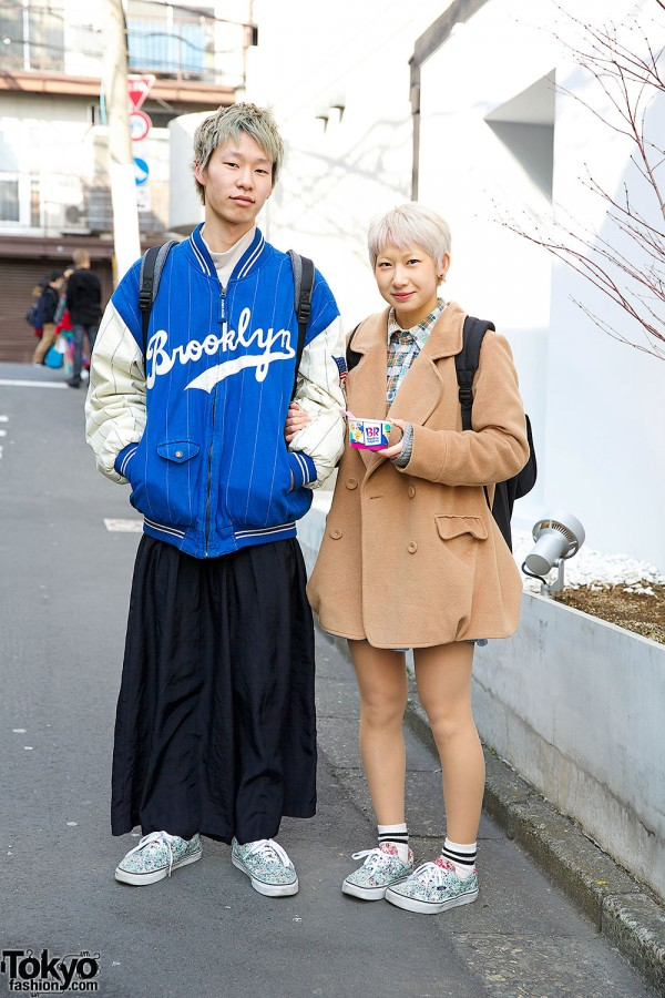 Guy and Girl in Matching Vans Sneakers
