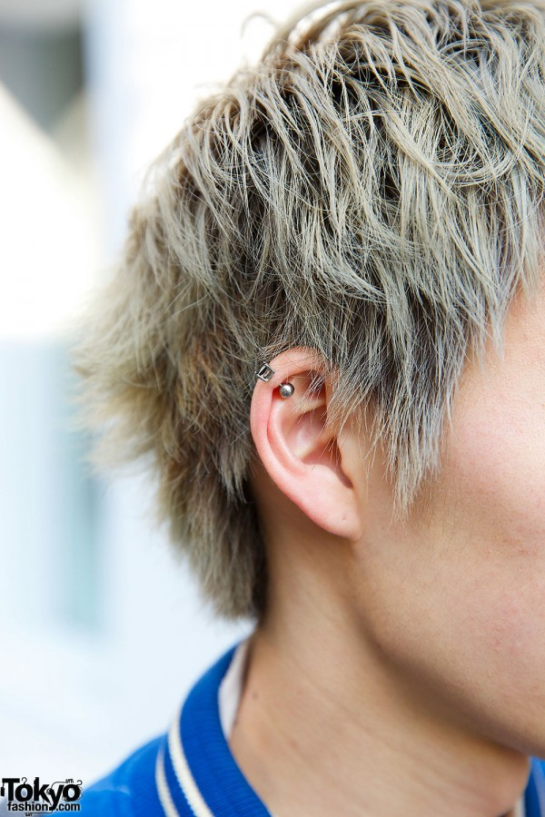 Blonde Guy in Stud Earrings