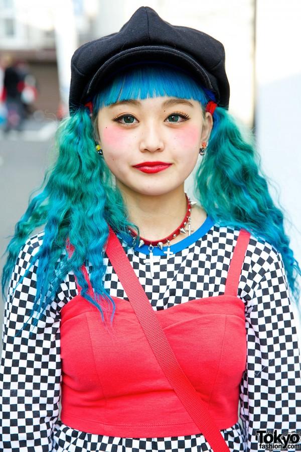 Blue & Green Hair