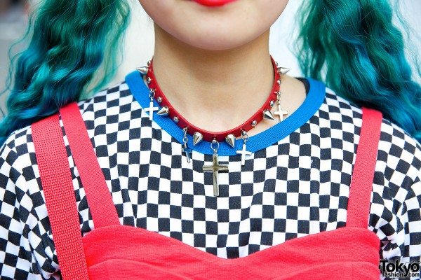 Spinns Cross & Spikes Necklace
