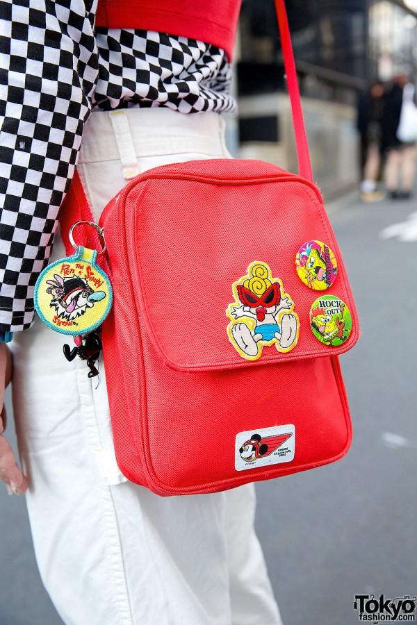 Hysteric Mini x Ren & Stimpy Red Bag