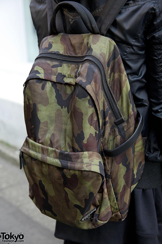 Christian Dada Studded Top, OS Accessories Cap \u0026amp; Prada Backpack in ...