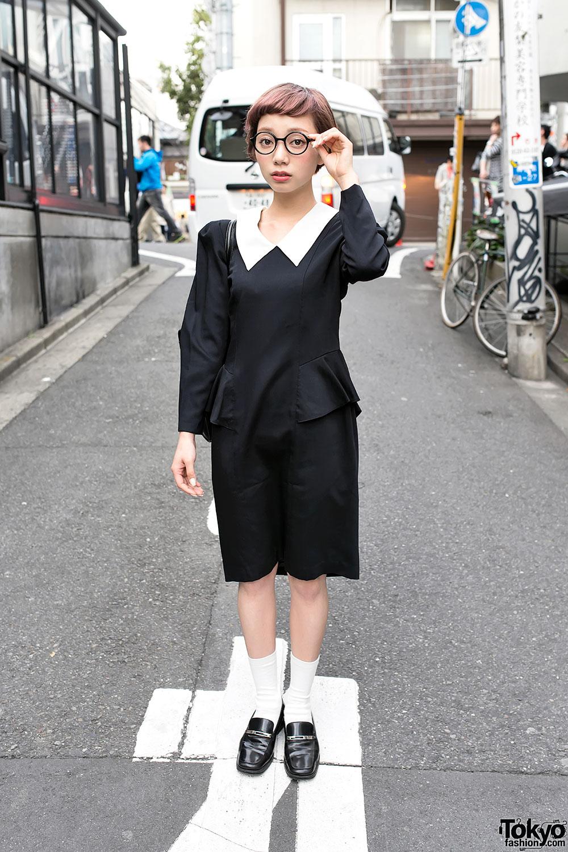 Cute Round Glasses in Harajuku