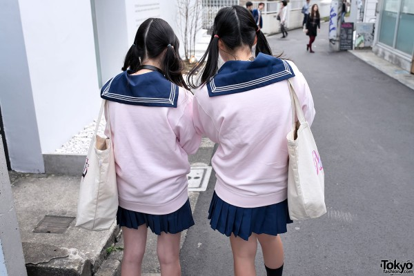 Japanese Sailor Collars & Twintails