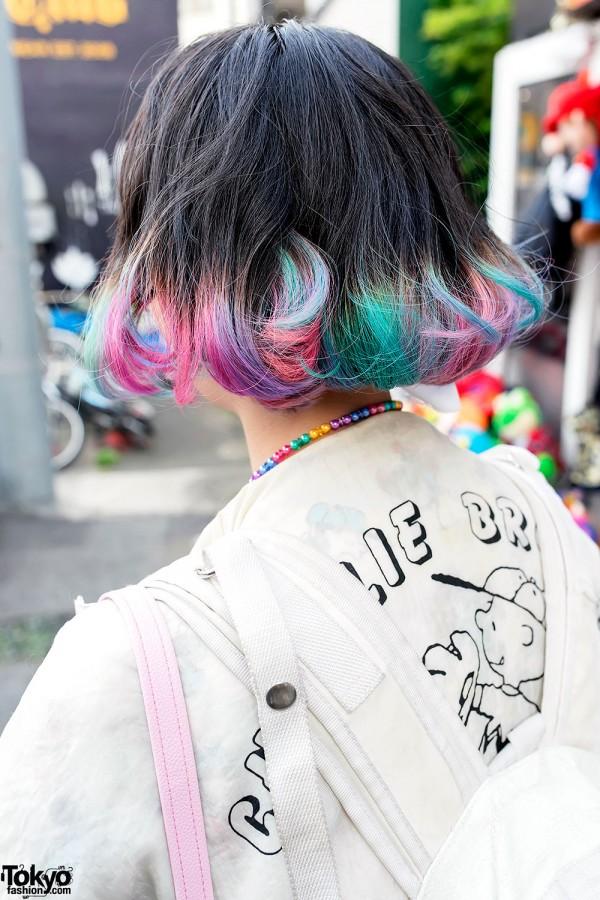 Rainbow Bob Harajuku Hairstyle