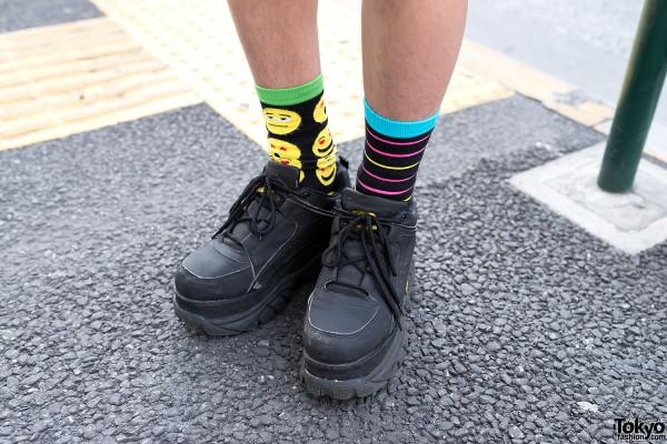 Circus Harajuku Socks & Buffalo Platform Boots