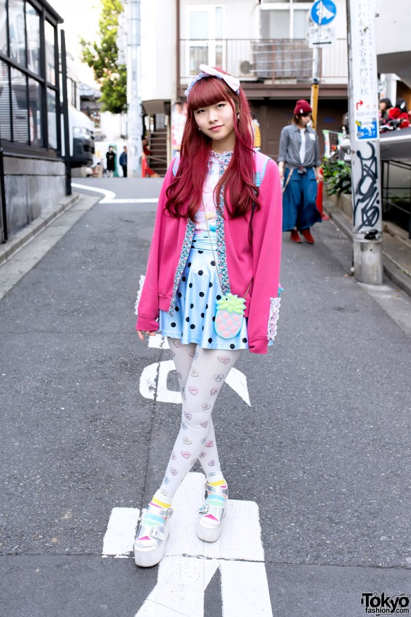 Pink Hair & Spank Fashion in Harajuku