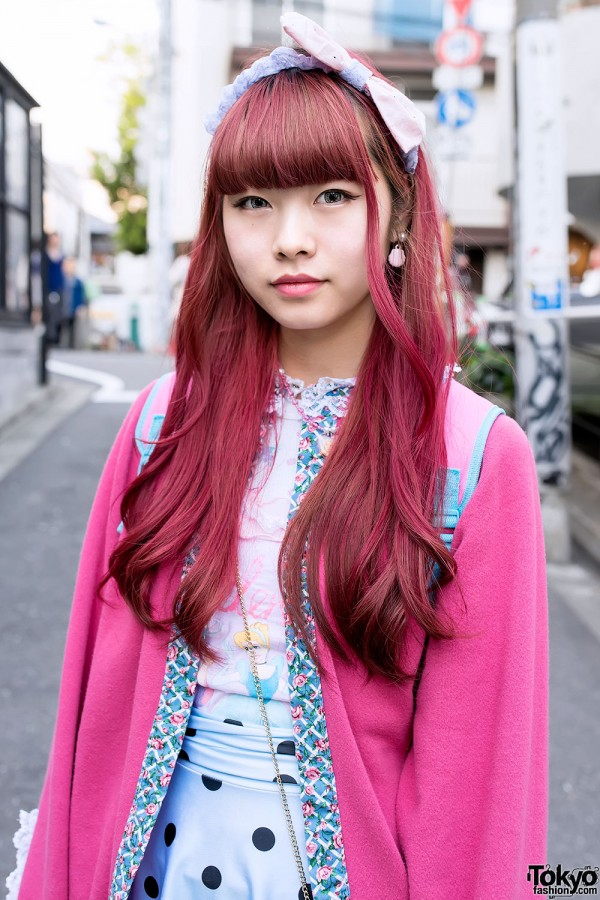 Cute Pink Japanese Hairstyle