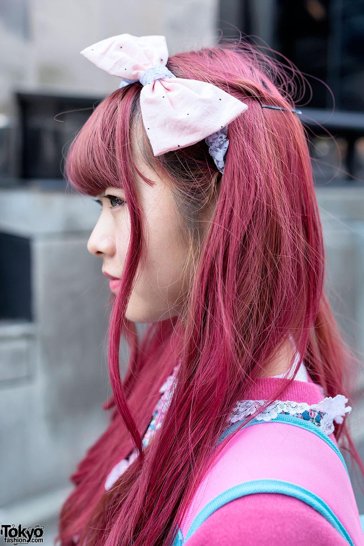 Pink Hair, SPANK! Tights, Platform Sandals & Little