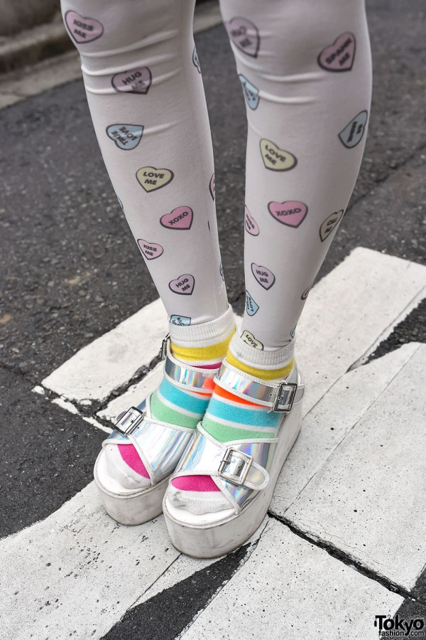 Platform Sandals With Cute Socks