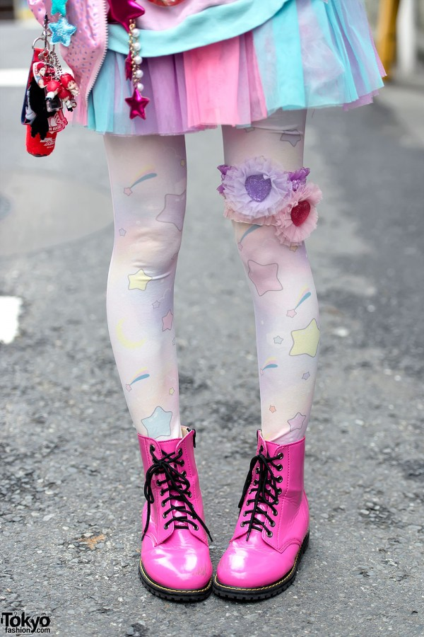 Pastel Garter, Pink Boots & Tulle Skirt