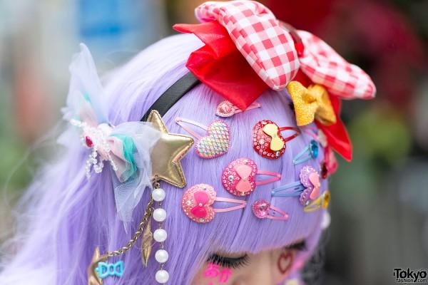 Colorful Decora Hair Clips & Bows in Harajuku