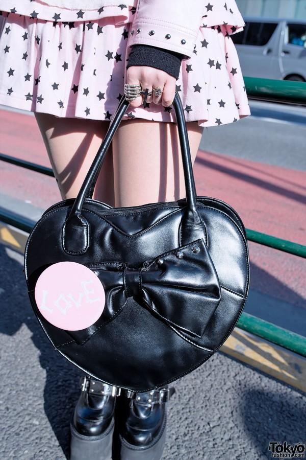 Black Heart Handbag