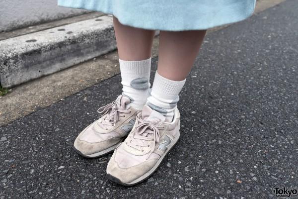 Retro New Balance Sneakers in Harajuku