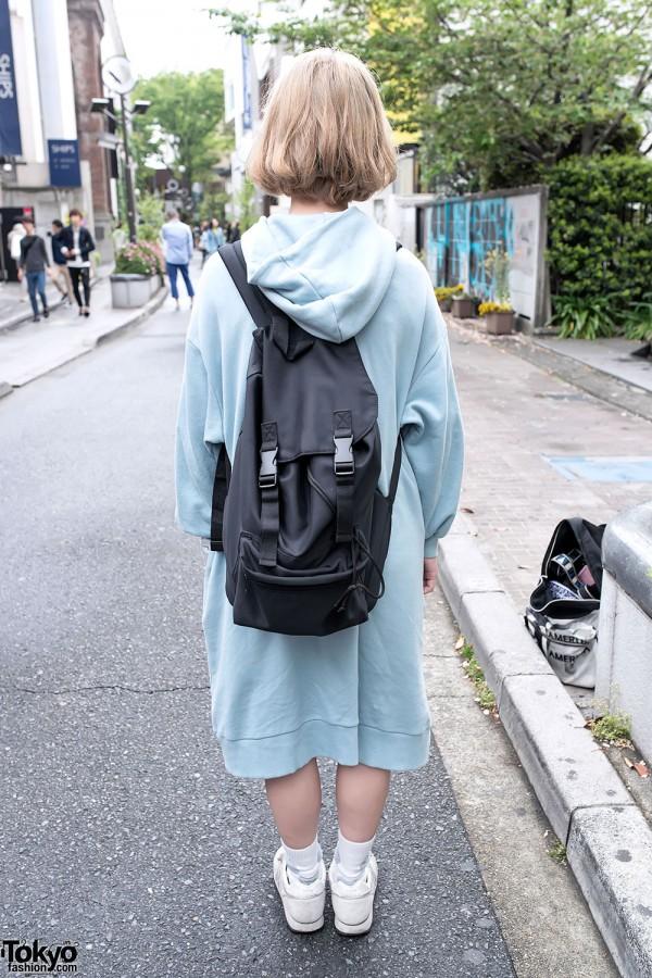 Oversized Dress & Backpack on Cat Street