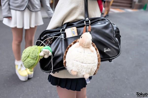 Barbie School Bag & Plush Turtles
