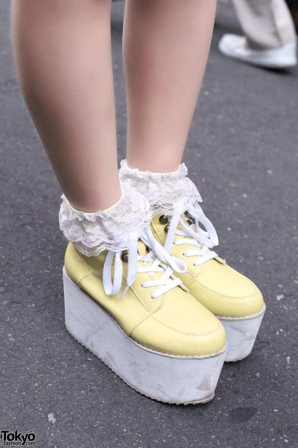 Gal Star Platforms & Ruffle Socks