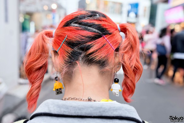 Fire Orange Hair in Twin Tails