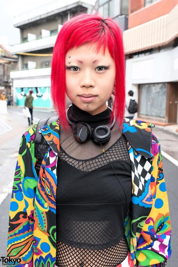 Facial Piercings in Harajuku