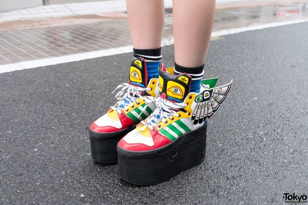 Jeremy Scott x Adidas Winged Platform Sneakers
