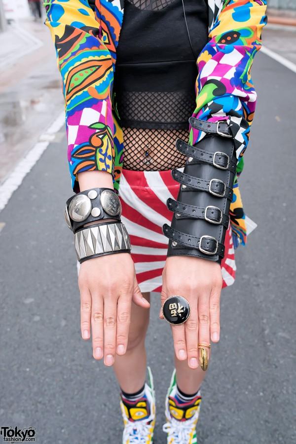 Devilish Arm Cuff & Studded Bracelets