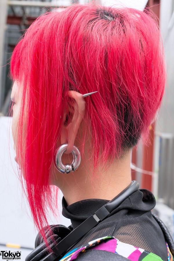Ear Spike and Gauged Earring