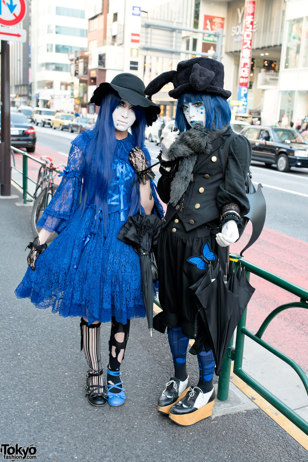 Harajuku Shironuri in Blue Gothic Fashion