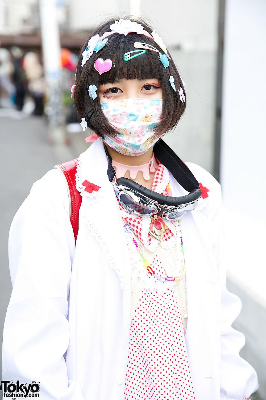 Harajuku Nurses W Decora Hair Pins Gas Mask Amp Randoseru