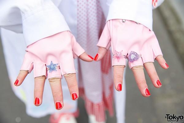 Fingerless Gloves & Plastic Rings