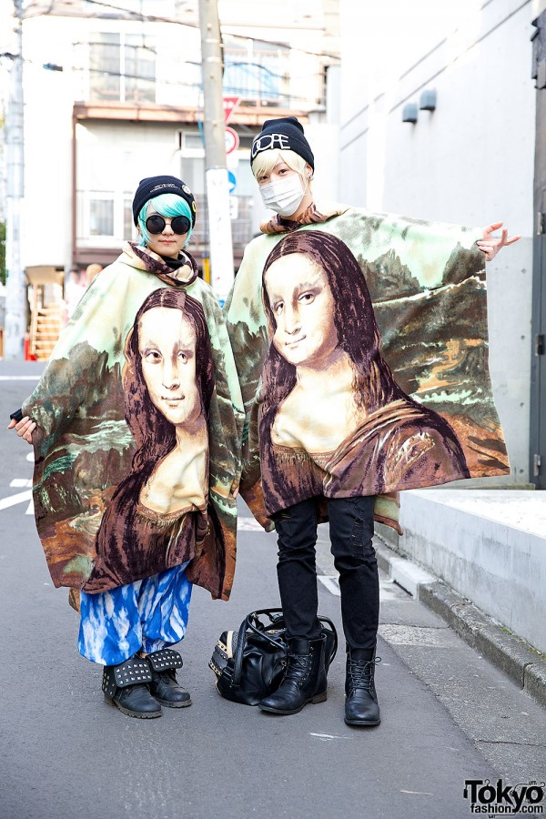 Lady Gaga Fans in Mona Lisa Ponchos from Dog Harajuku
