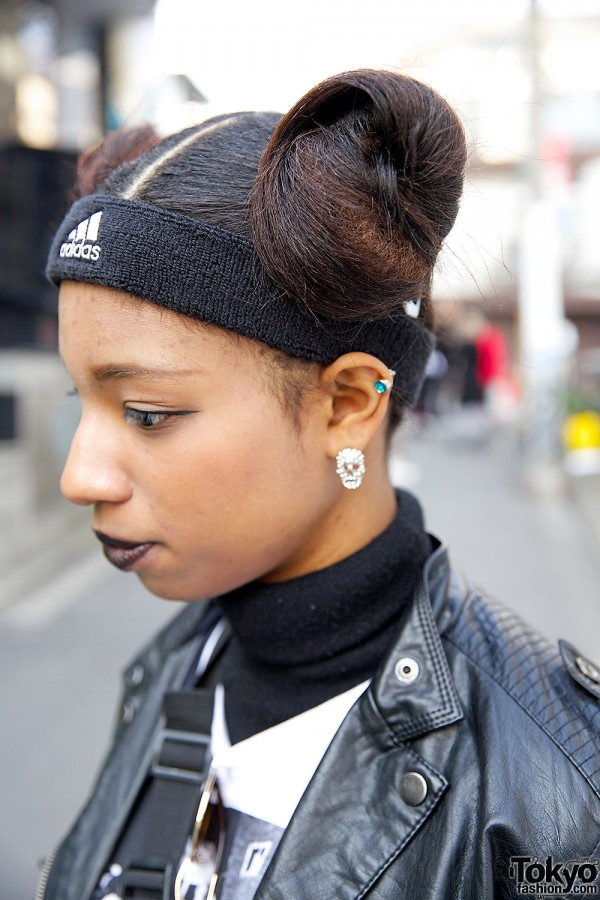 Skull Earrings & Adidas Headband