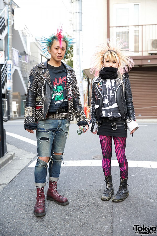 Harajuku Punk Rockers in Leather Jackets