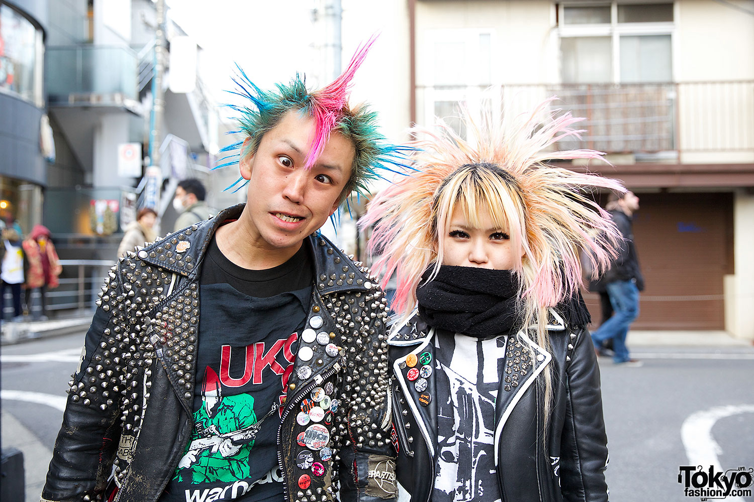 Harajuku Punks W Crosshawk Amp Mohawk Studded Leather Amp Boots
